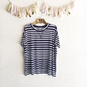 cAbi Navy Striped Tee